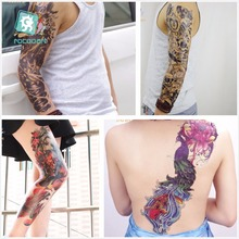 25 Different new large tatoo waterproof full arm shoulder temporary tattoo skull big sleeve stickers for men and Women.