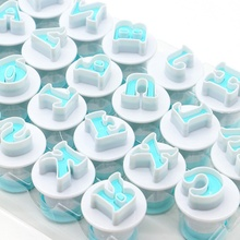 1 Set Upper&Lowercase Alphabet Cookie Cutter Plastic Capital Letters Fondant Cutter Baking Cupcake Mold Cake Decorating Tools Z 26 english alphabet cookie mold set baking tools