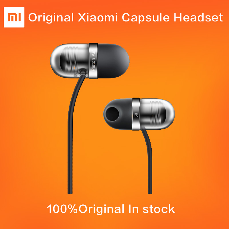 NEW Original Xiaomi Piston Air Earphone with Mic Remote Silicone Headset for Mobile Phone In-Ear Computer Piston Capsule headset original xiaomi xiomi mi hybrid earphone 1more design in ear multi unit piston headset hifi for smart mobile phone fon de ouvido