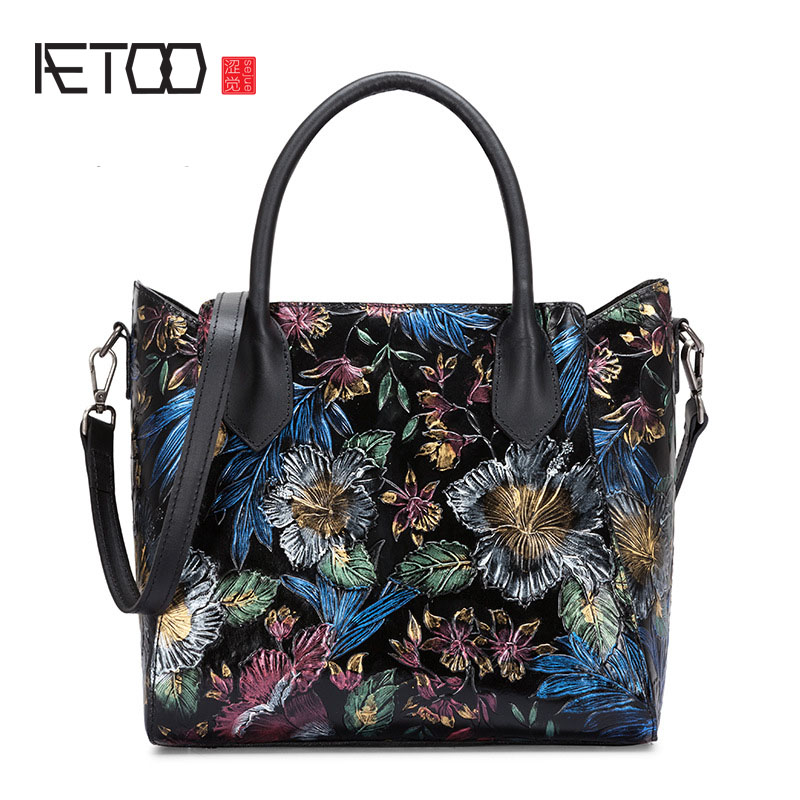 AETOO Original ethnic style women's bag shoulder bag ...
