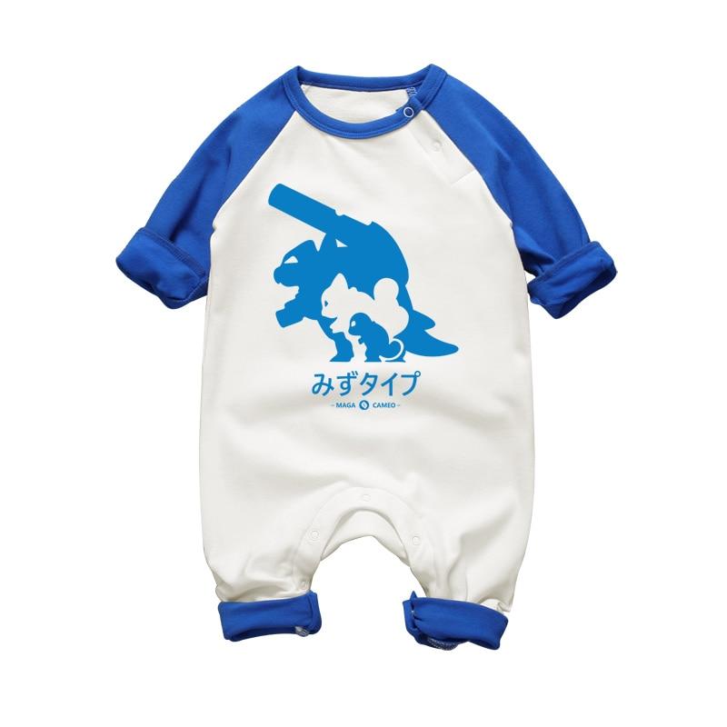 2017 nueva ropa recién nacido bebé niño niña de algodón mameluco grueso bebé otoño invierno ropa de manga larga de una sola pieza de dibujos animados divertido diseño
