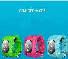 GPS Tracker Reloj Para Niños SOS de Emergencia Anti Perdió la Alarma GSM Inteligente Aplicación de Teléfono Móvil Pulsera de la Pulsera para Android iOS