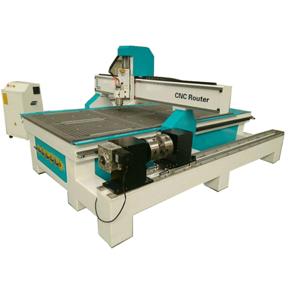 1325 4x8' Cnc Router Woodworking Machine With Double Chuck Rotary