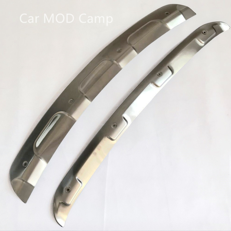 For Mazda CX-5 CX5 2017 2018 Stainless Steel Front & Rear Bumper Skid Protector Guard Cover Trim 2pcs Car Styling accessories! for vw tiguan l rear bumper protector tailgate trunk guard cover covers volkswagen 2017 stainless steel car styling accessories