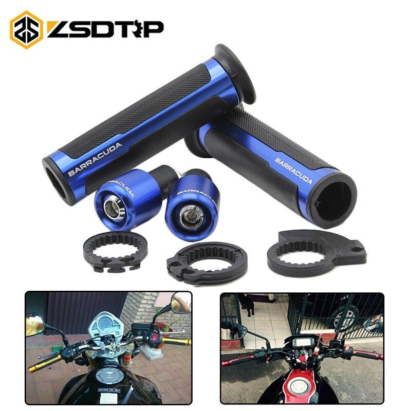 ZSDTRP-Barracuda bike Street&Racing CNC Aluminum 7/822mm Universal racing Motorcycle Handle Handlebar Moto Hand Bar Grip