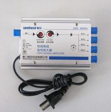 AC 220V EU plug 30db Adjustable Cable 45 860MHz 2W TV Signal Amplifier 1 In 4 Out CATV Amplifier
