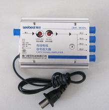 AC 220V ab tak 30db ayarlanabilir kablo 45 860MHz 2W TV sinyal amplifikatörü 1 In 4 Out CATV amplifikatör