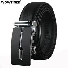 WOWTIGER Belt designer automatic buckle Cowhide Leather men luxury fashion Man business belts for men