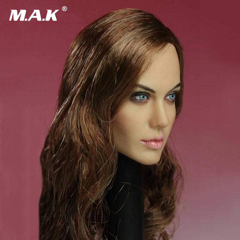 Head-Carving-Model Action-Figure Jolie-Head Sculpt T-10 Angelina Female 1/6-Scale Doll