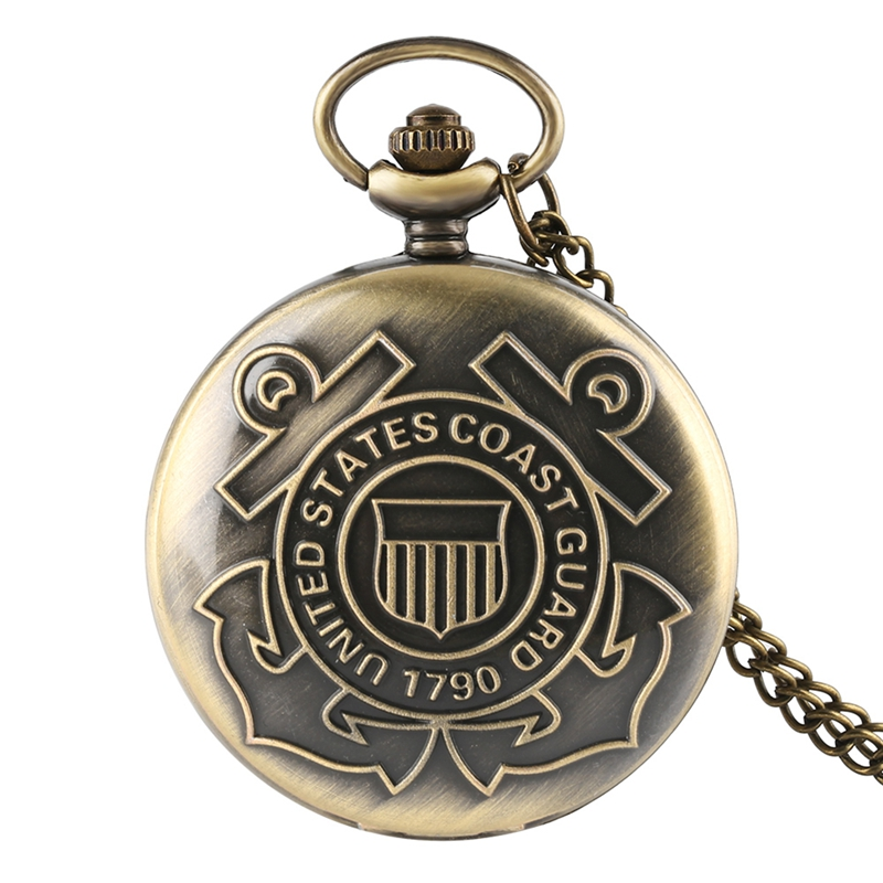 The History United States Women Men Quartz Pocket Watch Retro Veteran Quot With Necklace For Vintage Gifts Reloj De Bolsillo