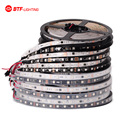 5m/roll 16.5ft  DC12V ws2811 2811 ic 5050 SMD rgb strip addressable 30/48/60leds/m led pixels strip external 1 ic control 3 leds