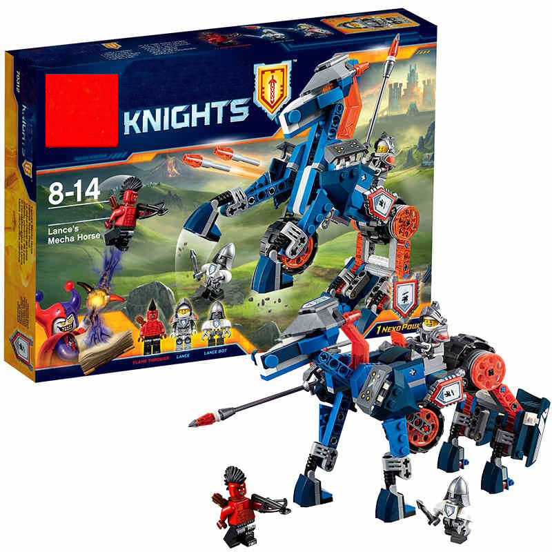 BELA Nexus Knights Building Blocks Toy Set Lance's Mecha Horse Gifts Toys Compatible With 70312 Knights robotics mindstorm 2017 new nexus knights building blocks set the three brothers kids gift bricks toys compatible with legoinglys 14028 70350