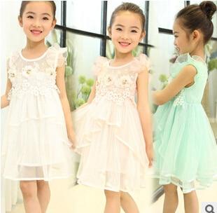 Aliexpress.com : Buy Fly kids children's sundress, baby girls lace ...