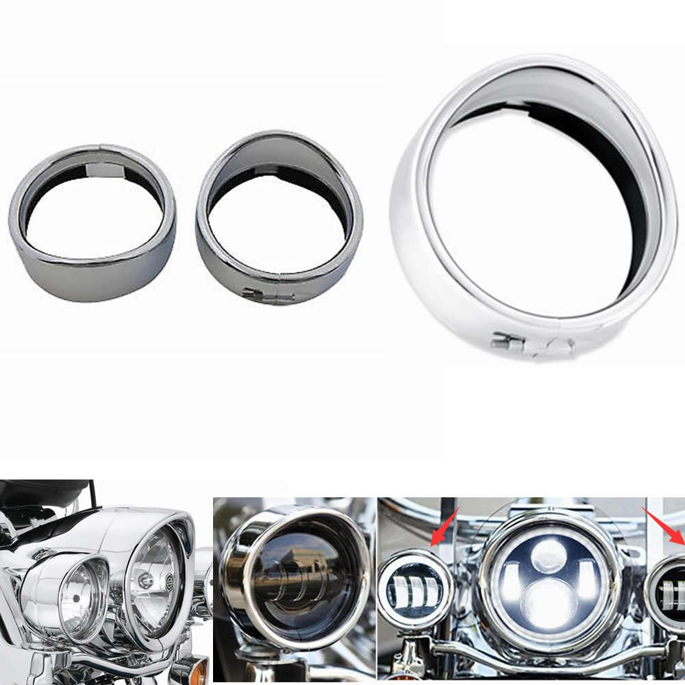 Motorcycle Accessories Chrome Headlight 4.5