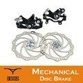 ZOOM MTB горный велосипед механические алюминиевые дисковые тормоза набор передний задний суппорт 160 мм роторы велосипед
