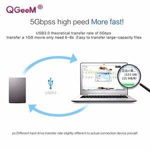 Image 5 - QGeeM USB 3.0 케이블 슈퍼 스피드 USB 3.0 남성 USB 확장 케이블 라디에이터 하드 디스크 Webcom USB 3.0 케이블 익스텐더