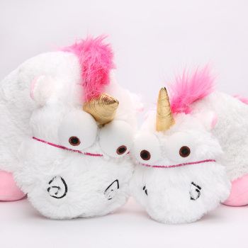 Fluffy Unicorn Plush Toy