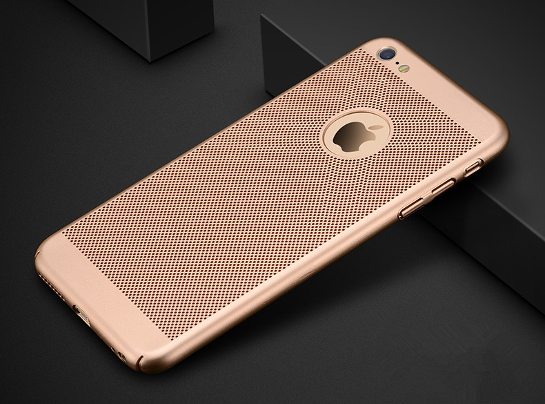 HTB1hvRQl1uSBuNjy1Xcq6AYjFXa1 - Dreamysow Hollow Heat Dissipation Hard PC for iPhone X 10 8 7 6 XS max XR 6S Plus 5S SE Phone Case Matte Protective Cover Coque