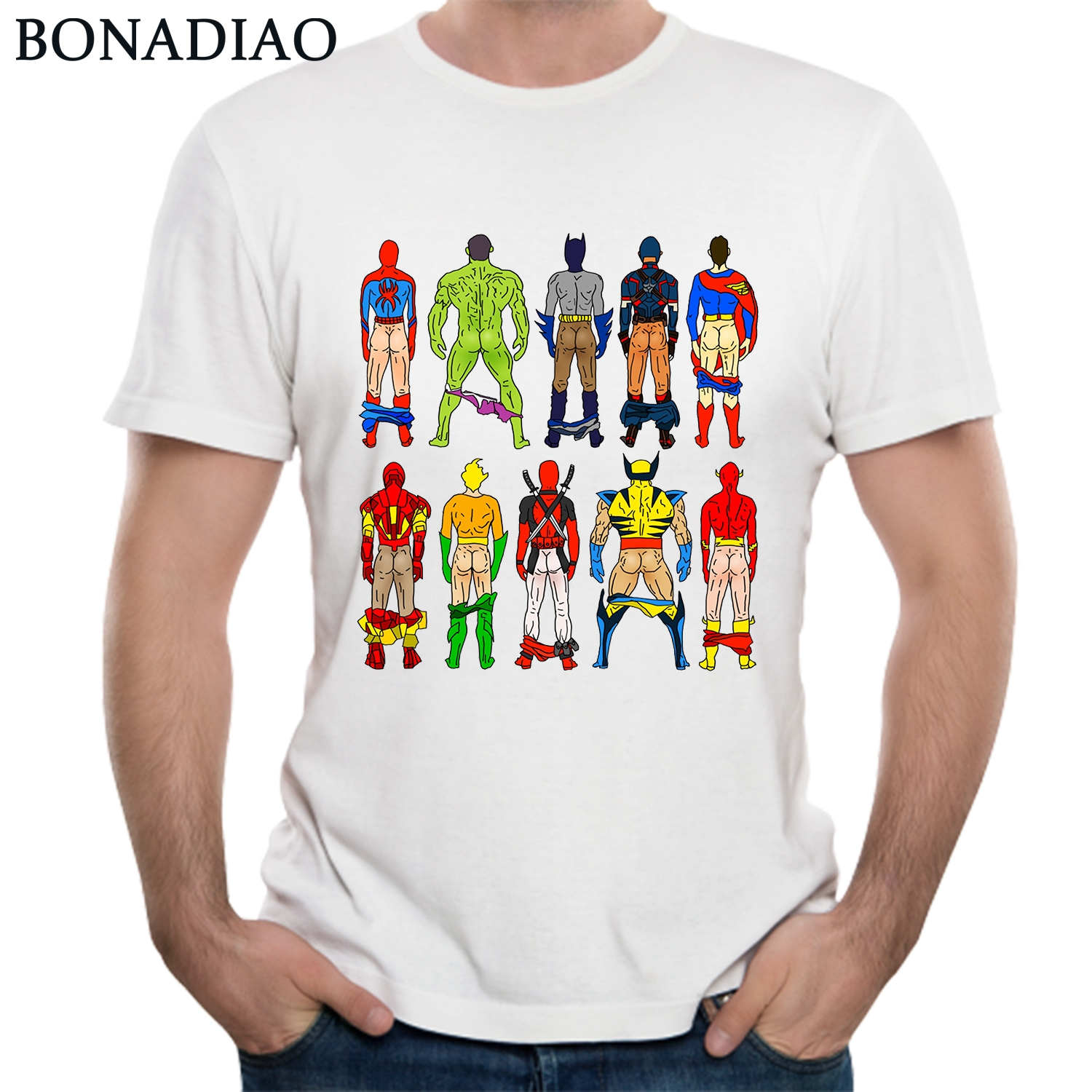 9a7bc7d74 Avengers Infinity War Tees Spiderman Hulk Deadpool Thor Captain America  Panther Iron Man T Shirt 2018 New Arrival