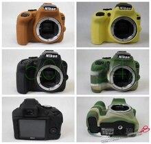 Бесплатная доставка Мягкая силиконовая резина Камера защитный Средства ухода за кожей кожного покрова чехол для Nikon D3400 Камера сумка объектива сумка
