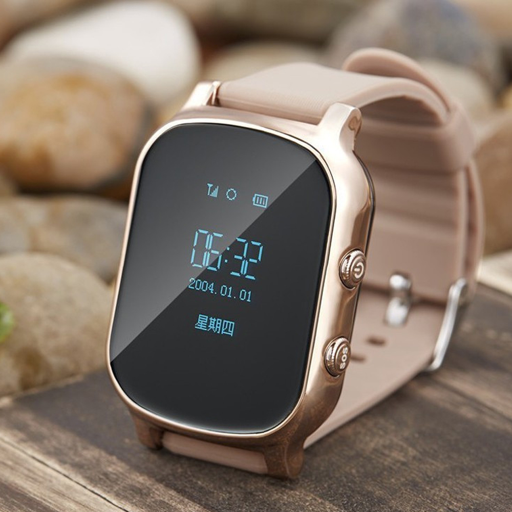 GPS Tracker Smart Watch T58 for Kids Children GPS Bracelet Google Map Sos Button Tracker Gsm GPS Locator Clock Smartwatch