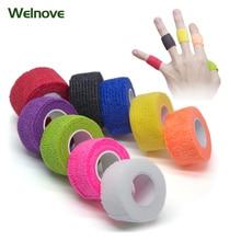 8pcs Self Adhesive Non Woven Cohesive Bandage 2.5*450cm Sports Protective Stretch D1064