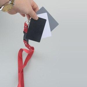Image 3 - 3 in 1 Digital Kamera Weiß Schwarz Grau Balance Karten Grau Karte 18 Grad S Größe mit Neck Strap Fotografie für Digital Kameras