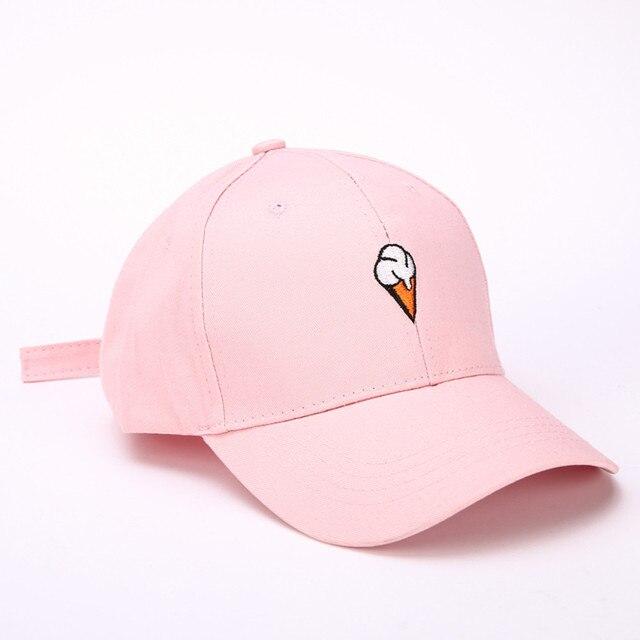 Ice cream Pattern Men Women Peaked Hat HipHop Curved Strapback Snapback Baseball  Cap adjustable hats for women girls gorra mujer 4215845908bb