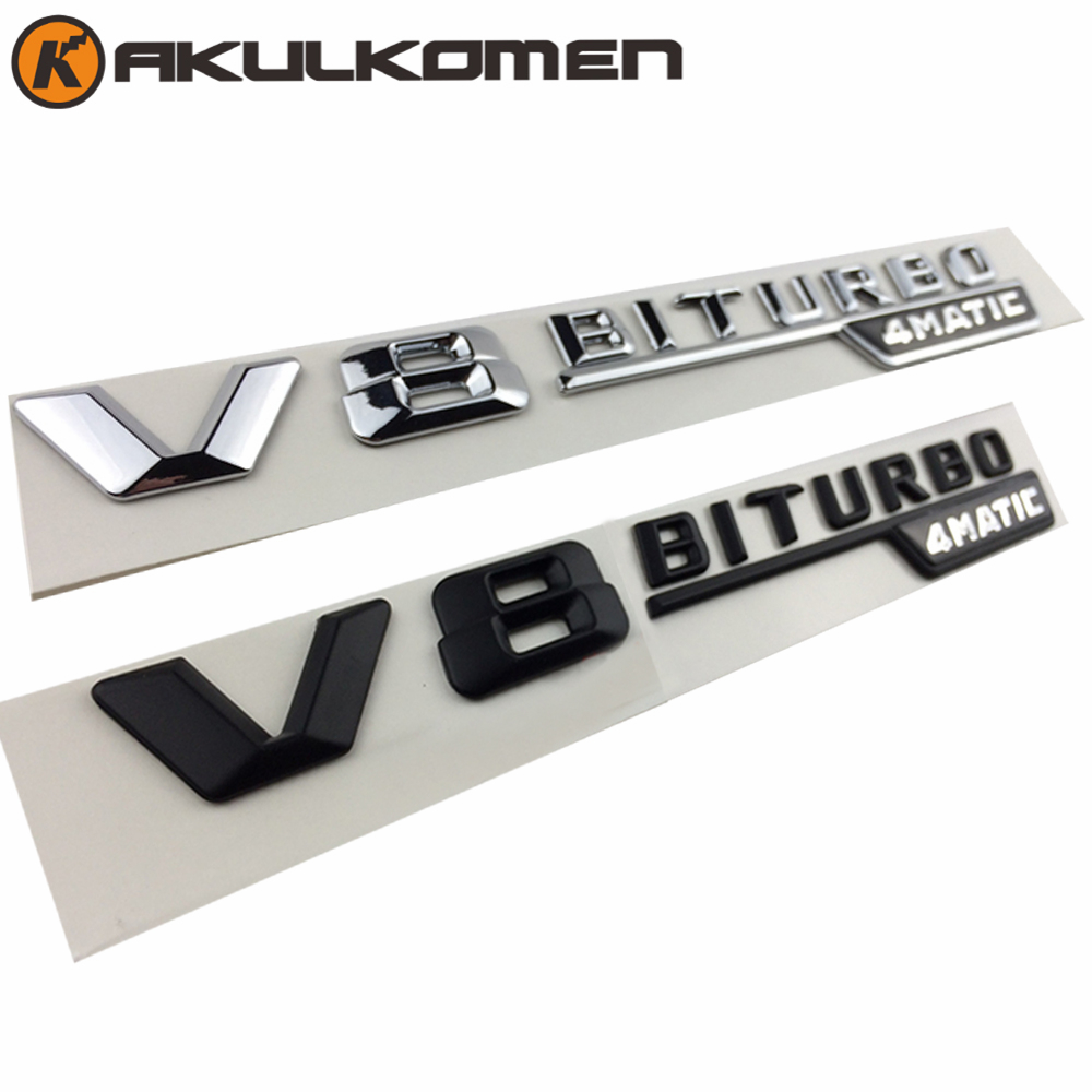 2pcs/pair For Mercedes Benz AMG ML GLk GLS63 C63 GLE63 S63L GLS550 G500 V8 BTURBO 4MATIC Emblem Badge Decal Trunk Rear Letters car styling for mercedes benz g series w460 w461 w463 g230 g300 g350 chrome number letters rear trunk emblem badge sticker