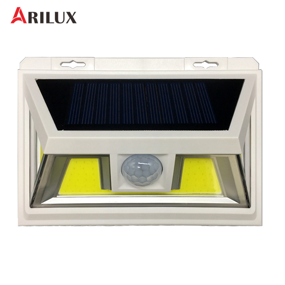 ARILUX 10W PIR Motion Sensor Solar LED Light 66 COB LED Waterproof Light Outdoor Wide Angle Wall Lamp