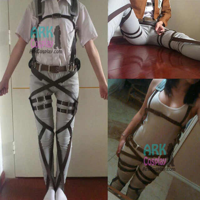 Attack On Titan Cosplay Shingeki No Kyojin Cosplay Recon Corps Harness Belts Hookshot Cosplay Costume Adjustable Belts