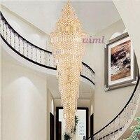 Светодиодный 51 W 60 W современный и контракт творческий роскошные вилла лестницы лампа двойной Прихожая лестница лампы, подвесные светильник