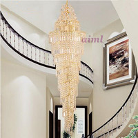 LED 51W 60W Contemporary And Contracted Creative Luxury Villa Stair Lamp Double Entry Stair Lamp Pendant Lamps 220 240V