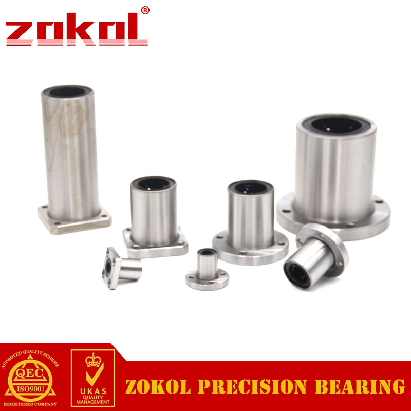 ZOKOL bearing LMF25GA.Steel Cage Round flange linear motion bearing 25*40*59mm newest ly 4040 co2 laser engraving machine 50w laser tube laser cutting machine free tax to russia
