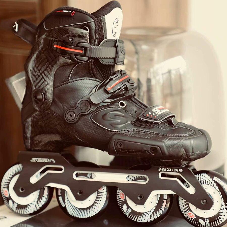 100% Original 2018 Newest SEBA S Slide Professional Adult Inline Skates Carbon Fiber Shoes Slalom Sliding Free Skating Patines 100% original 2018 newest seba s slide professional adult inline skates carbon fiber shoes slalom sliding free skating patines