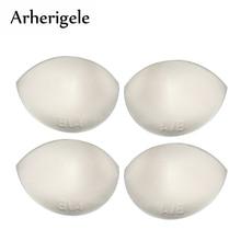 Arherigele 1pair Thick Sponge Swimsuit Bra Pad Inserts Breast Enhancer Push Up Bikini Pads for Women Intimates Bra Accessories