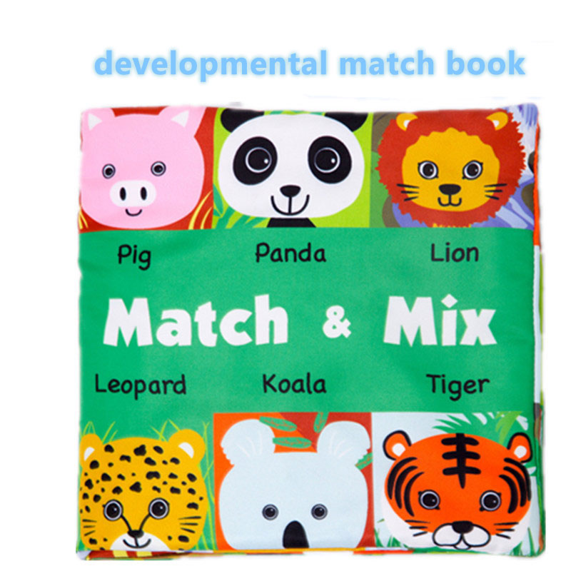 Funny Matching Toys Baby Soft Books Infant Early Cognitive Development My Quiet Book Rattles Cloth Book Toys For Baby BB05