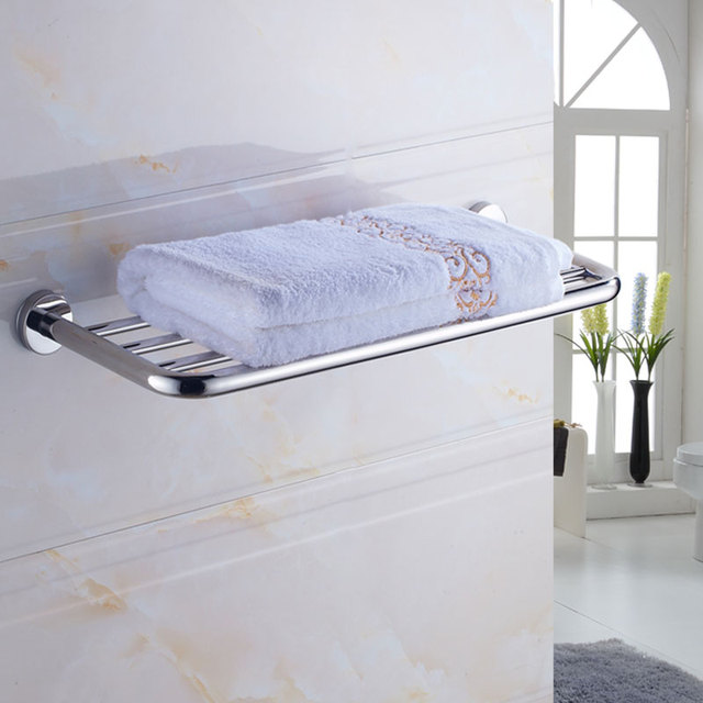free ship 304 stainless steel bathroom towel rack shelf bathroom ...