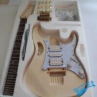 7 в стиль белый тигр узор электрогитары DIY Kit Набор корпус из липы индийский палисандр гриф клен шеи аксессуары для гитары