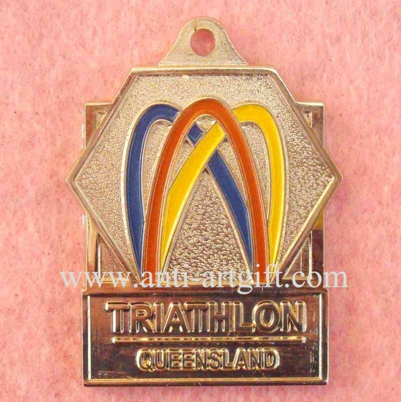 Имитация, жесткие, покрытые эмалью значки, золотое ожерелье медаль, лента, значок, медаль