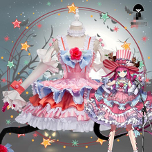 лучшая цена Fate Grand Order Elizabeth Bathory FGO Caster Cosplay Costume Lolita Dress Woman Gorgeous Dress