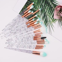 20Pcs Diamond Makeup Brushes Set Crystal Eye shadow Foundation Powder Blush Lip Makup Cosmetic Colorful Make Up Tools
