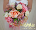 2017 Bouquet de mariage Cheap Wedding Bouquet Bridesmaid Bouquet New Arrival Pink Artifical Flower Bridal Bouquet Wedding Flower
