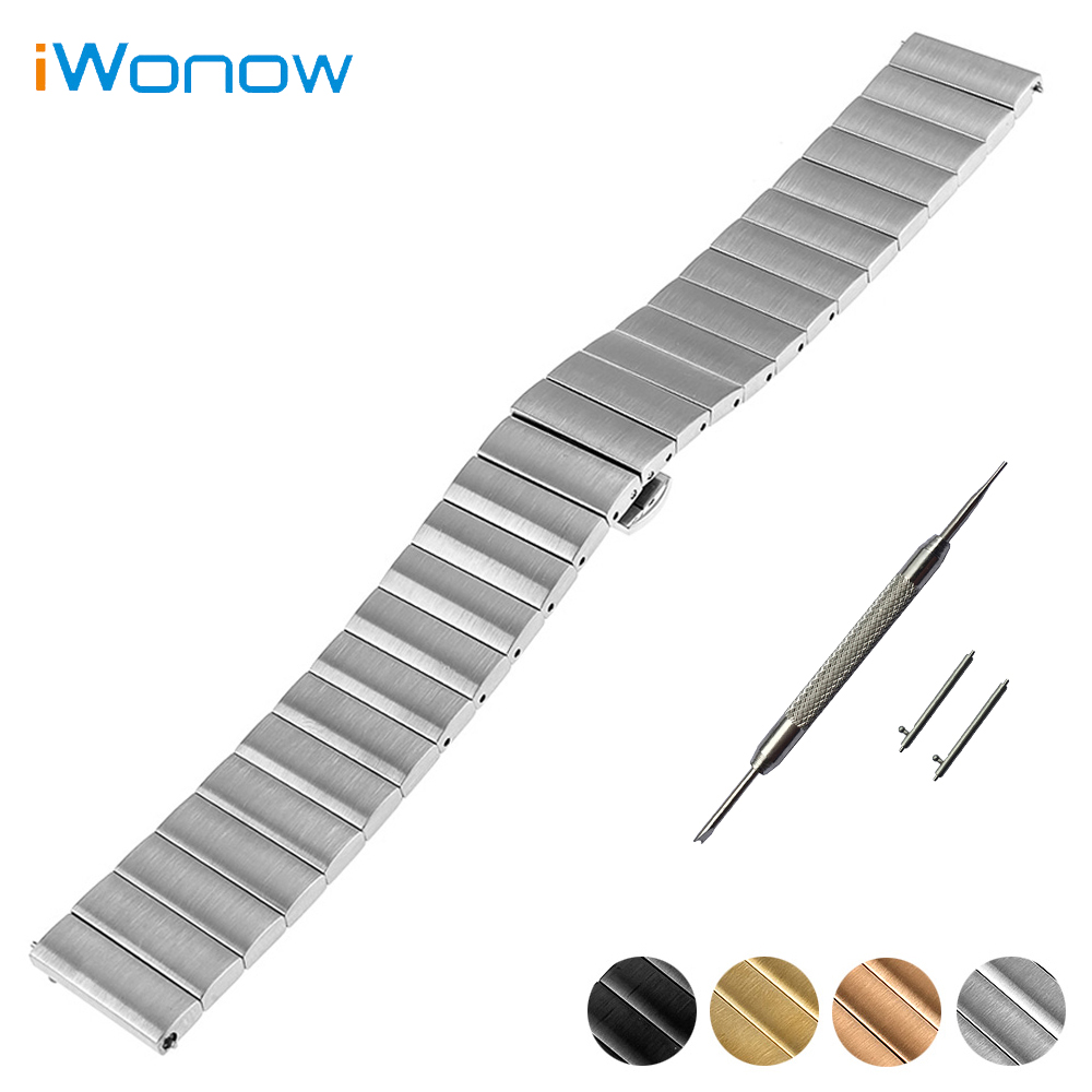 Stainless Steel Watch Band 16mm 18mm 20mm for Omega Quick Release Strap Butterfly Buckle Wrist Belt