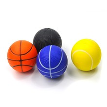 Pet dogs and cats chew toys natural rubber elastic ball training the dog to play soft bouncy ball security interactive toys