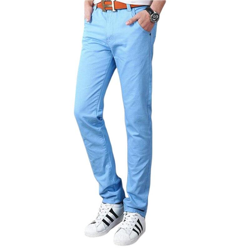 2019 New Design Casual Men Pants Cotton Slim Pant Straight Trousers Fashion Business Solid Khaki Black Pants Men Trousers