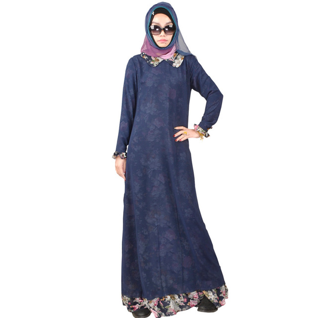 Халат Мусульманского Djellaba И Abayas Исламская Одежда Для Женщин Взрослых Полиэстер Шифон Формальные 2016 Горячий Продавать Новый Стиль Абая