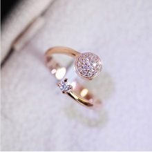 Charm Cubic Zirconia Engagement Ring Come From Star Micro Wedding Ring for Women Gold Color Cz Stone Zircon Love Rings(China)