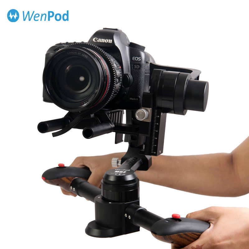 DHL WEWOW MD2 3 axis 64 Bits Smart Steadycam Gimbal Camera DSLR Video Stabilizer FPV black brushless for Canon/Nikon/BMPCC ect yuneec q500 typhoon quadcopter handheld cgo steadygrip gimbal black
