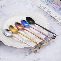 304 Stainless Steel Spoon Coffee Scoop Set Christmas Gift Restaurant Soup Tools Dessert Dipper Flatware Bar Ware Tableware Set